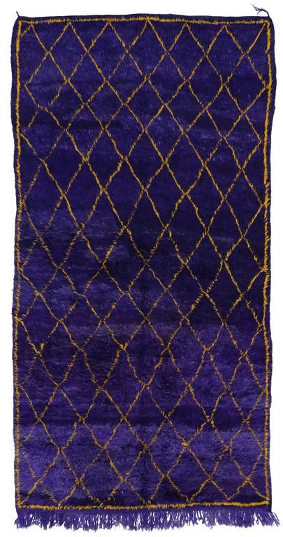 purple and yellow rug contemporary berber moroccan rug with boho chic style in purple and yellow gold for sale at 1stdibs