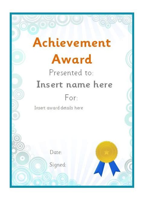 reading achievement certificate for student jpg best