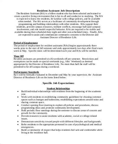 resident assistant description primary view of object titled academy of mathematics
