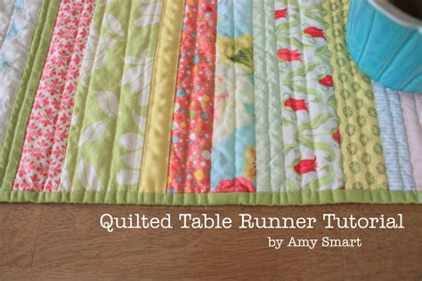 Quilted Runner by Quality Sewing Tutorials Quilted Table Runner Tutorial By