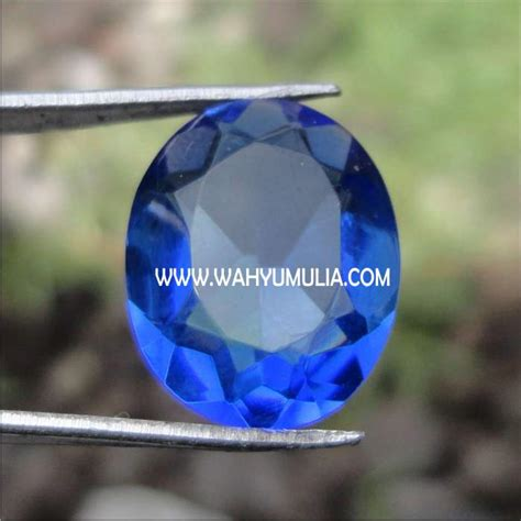 Batu Obsidian Kotak Blue Biru batu permata blue obsidian kode 141 wahyu mulia