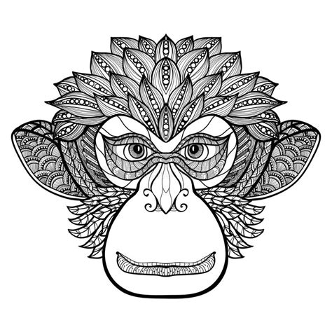 how to draw a doodle monkey monkey doodle stock vector image of background