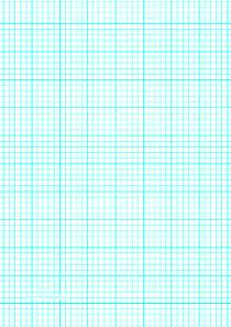 printable graph paper with five lines per inch and heavy