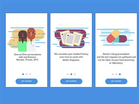 design name app onboarding design for mobidoc app iosup