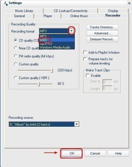format audio enregistrement musicmatch jukebox extraire des fichiers audio de cd en