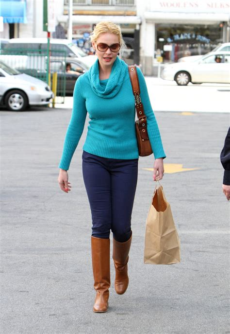 Style Katherine Heigl Fabsugar Want Need 3 by Katherine Heigl Flat Boots Katherine Heigl Looks