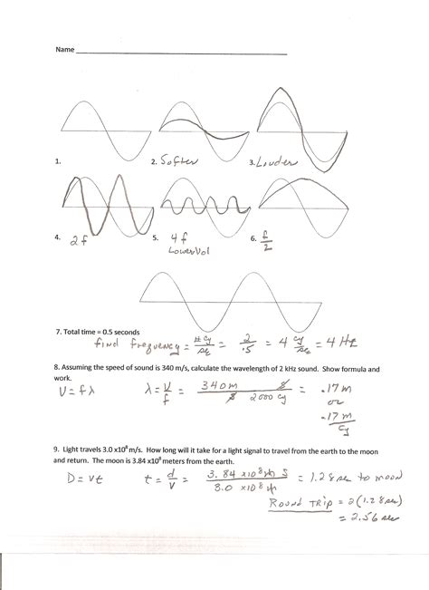 section 18 1 electromagnetic waves worksheet 100 sound waves worksheets 8th grade ks3 physics