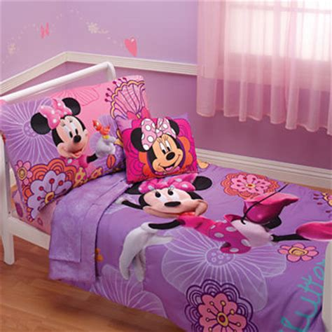 jcpenney kids bedding disney minnie mouse 4 pc toddler bedding jcpenney