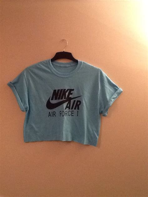 T Shirt Nike Swag Air unisex customised nike air 1 cropped t shirt swag sassy festival