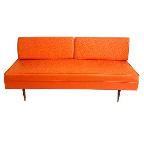 tangerine sofa vintage leather sofa tangerine oragne day bed on antique