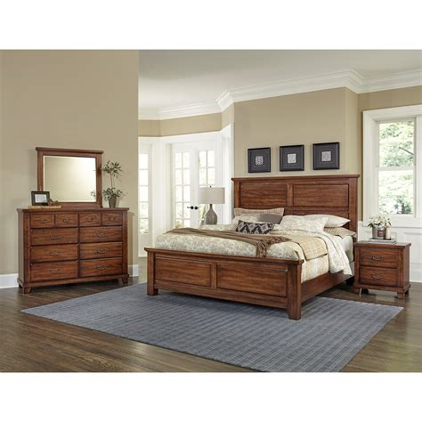 johnny janosik bedroom furniture vaughan bassett american cherry solid wood cherry king