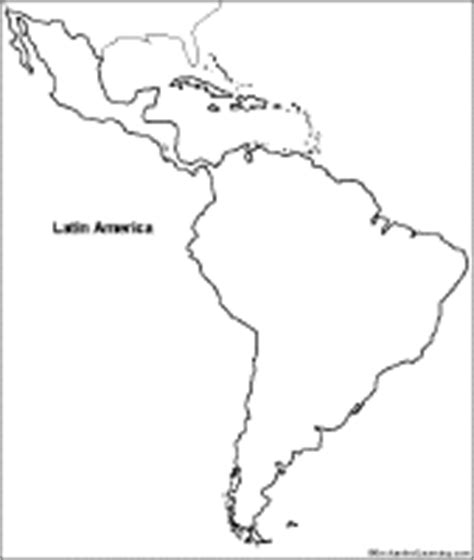 America South America Map Outline by Outline Map Printouts J Q Enchantedlearning