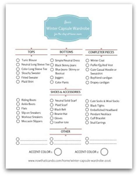 Winter Wardrobe Checklist by Winter Wardrobe Plan 130 For Stay At Home