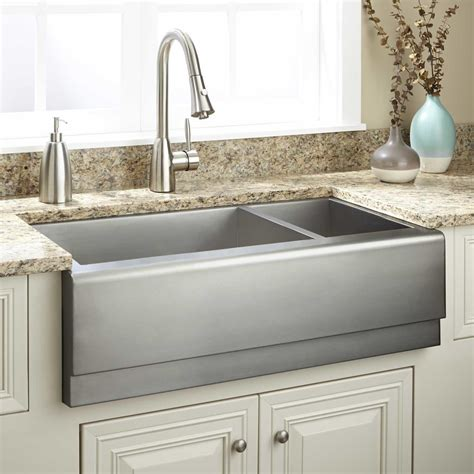 stainless steel apron front kitchen sink stainless steel apron front sink flapjack design