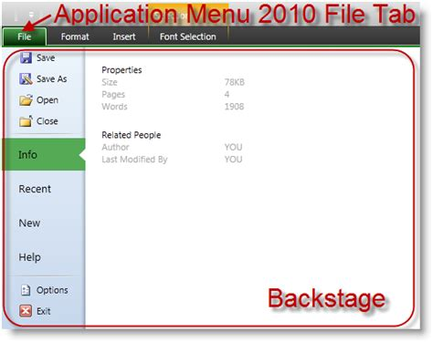 wpf menu style template applicationmenu2010 overview xamribbon