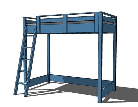 loft bunk bed plans bed plans diy blueprints