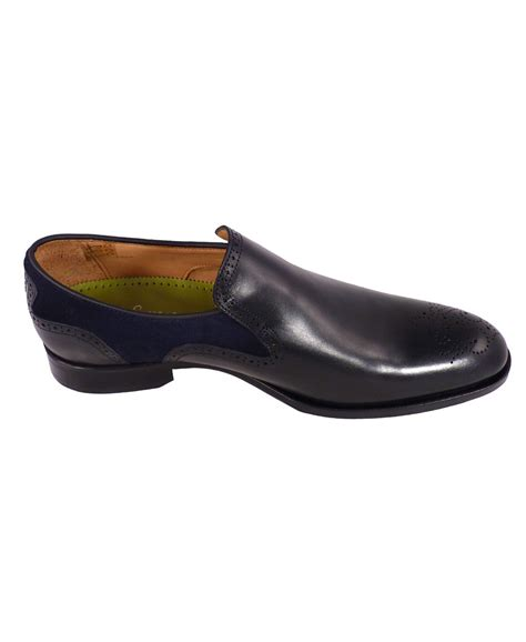 oliver sweeney slippers oliver sweeney navy leather suede slip on piva shoes