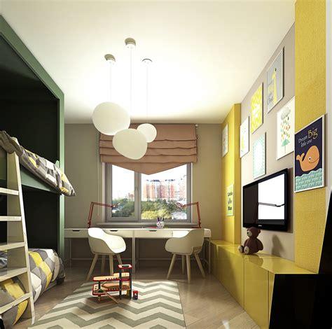 chambre enfant jaune chambre jaune fluo