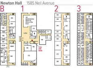 University Floor Plan by Newton Hall Floor Plans College Of Nursing