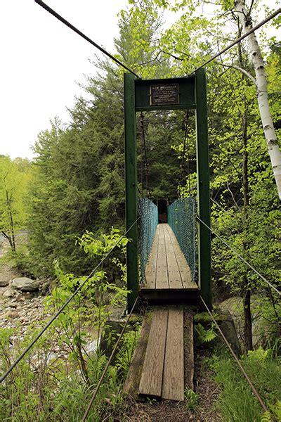 swinging new england clarendon gorge upper falls vermont