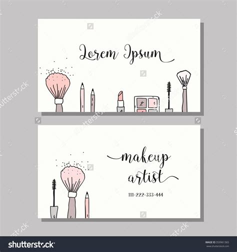 makeup artist name card template sle makeup artist business cards gallery card design
