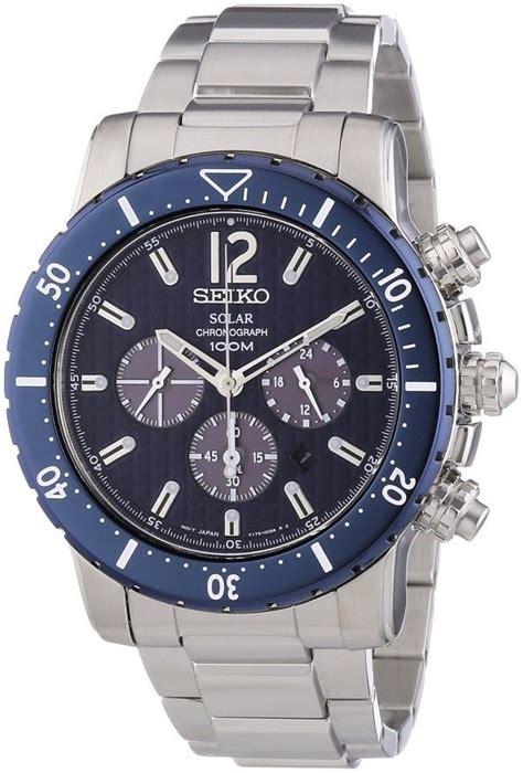 Seiko Spc089p2 Sportura Barcelona Black Silver Blue watches mens top seiko solar chronograph blue
