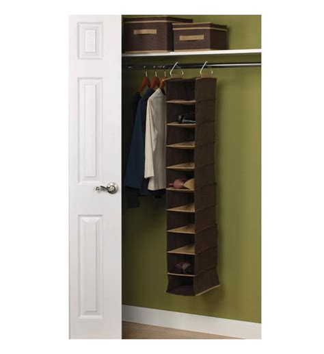 Hanging Closet Organizer Hanging Closet Organizer 10 Pocket In Hanging Shoe