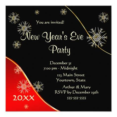 new years invite new year s 2015 5 25 quot square invitation card