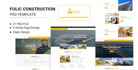 themeforest construction template folic construction psd template by themeexplorer themeforest