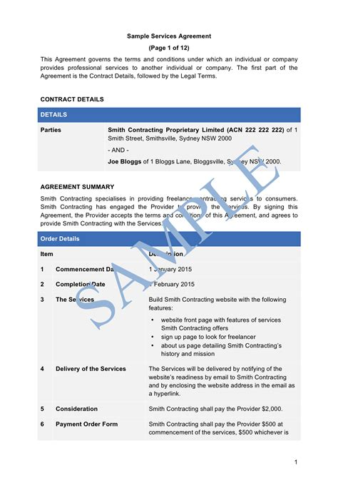 Services Agreement Sle Lawpath Production Services Agreement Template