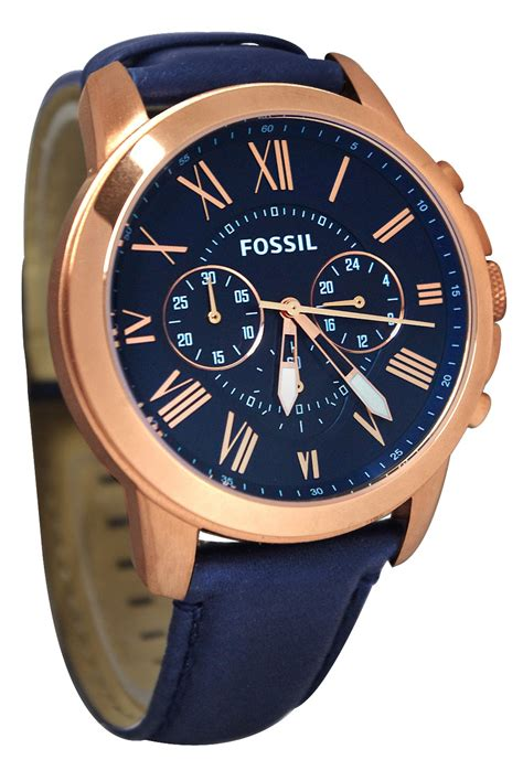 Fossil Fs 4835 Leather Blue Black Grade mens blue and gold watches wroc awski informator