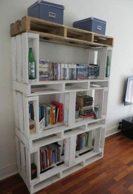 libreria pallet libreria originale con materiale di riciclo 20 idee