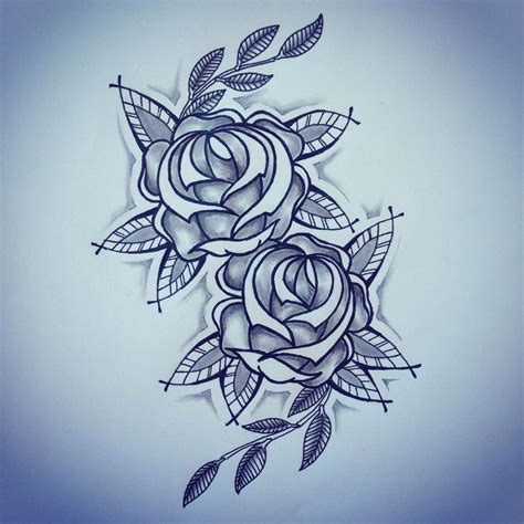 traditional style rose tattoo new traditional roses sketch by ranz