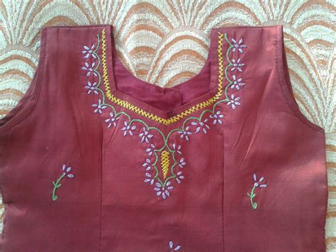 embroidery design in blouse embroidery on kids blouse welcome to my blog