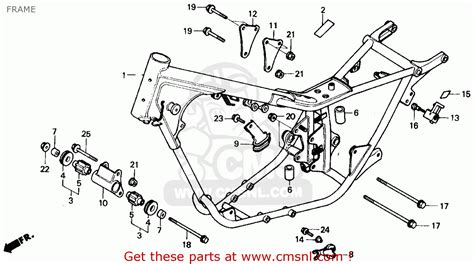 honda rebel 250 parts diagram honda cmx250cd rebel 250 ltd 1986 usa frame schematic