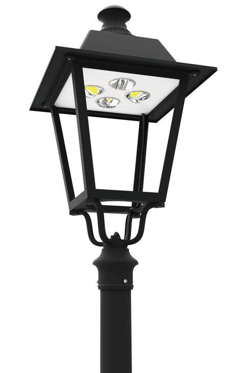led pt  series led post top lantern light fixtures