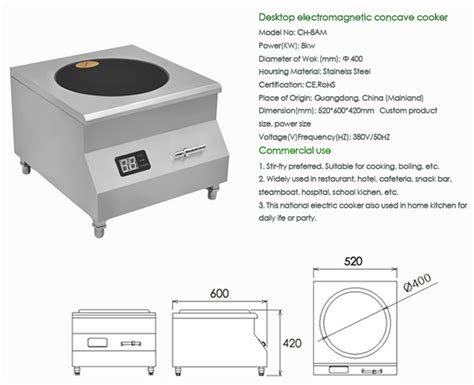 induction cooker operation induction wok burner for restaurants with 8kw 98135221