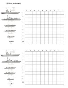 schiffe versenken vorlage muster und vorlagen kostenlos