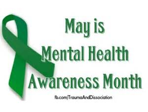 mental health awareness month color ptsd dissociative disorders and abuse ribbons profile
