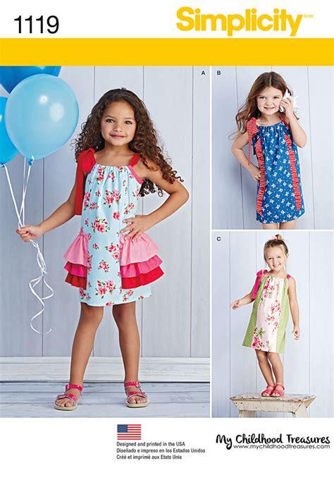 pattern review simplicity 1280 simplicity 1119 children s pillowcase dresses