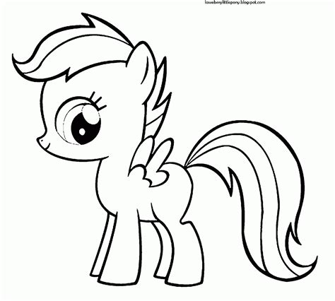 imagenes para pintar my little pony my little pony dibujos para colorear de scootaloo de my