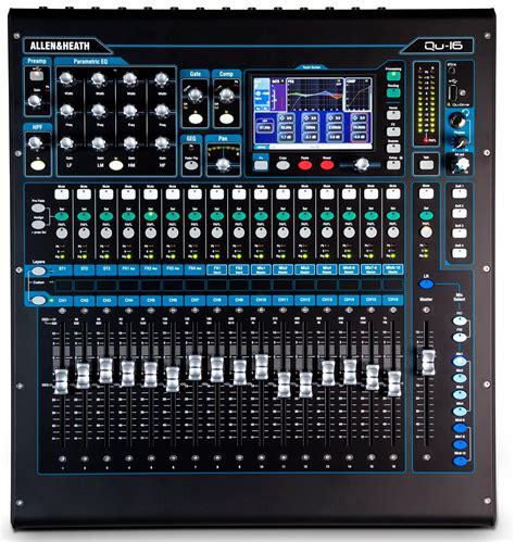 Daftar Mixer Digital Allen Heath allen heath qu 16c 16 channel rackmountable digital mixer chrome edition