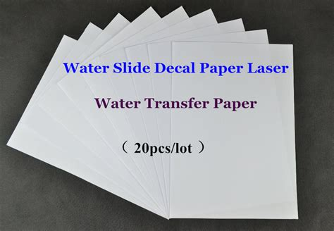 How To Make Decal Paper - 20pcs lot a4 clear transparent paper water slide decal