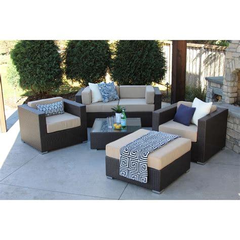 aldrich  pc modern outdoor rattan patio furniture sofa