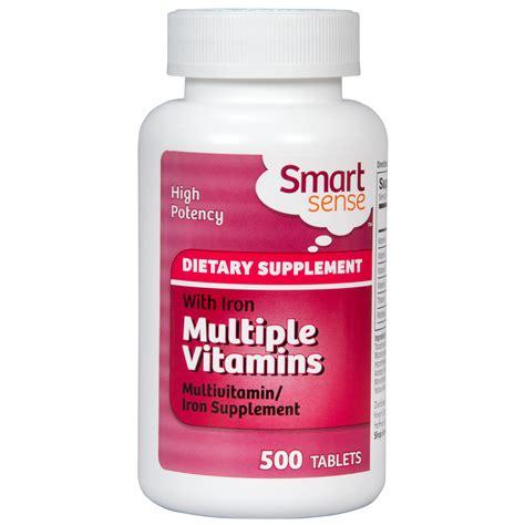 s 500 supplement smart sense vitamins iron supplement 500 ct