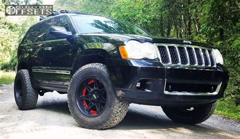 2009 Jeep Grand Lifted Wheel Offset 2009 Jeep Grand Aggressive 1 Outside