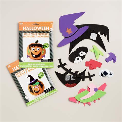 Pumpkin Decorating Kit by Stick On Pumpkin Decorating Kit Set Of 2