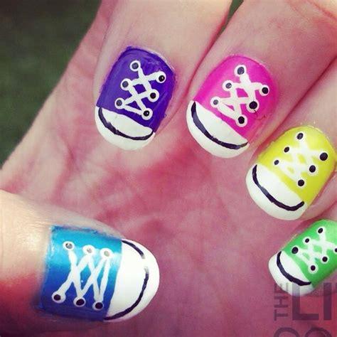 easy nail art converse converse nail art nail art pinterest nail art