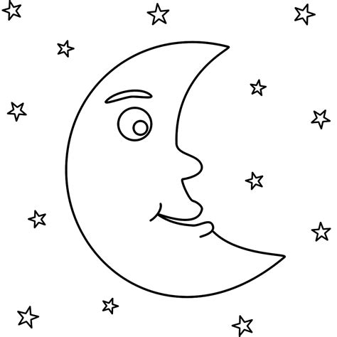 preschool coloring pages moon mm moon coloring page kindergarten pinterest moon