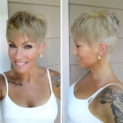 ladies hairstyles short on top longer at back pixie haircuts with bangs 50 terrific tapers